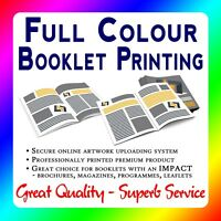 Full Colour A4 and A5 Booklets Printed - Stapled & Folded Brochures FROM £15.50