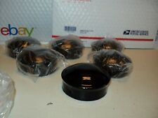 """BLACK Chain Link Fence Post Dome Caps (6 pc) 3"""" Brand New Steel Master Halco"""