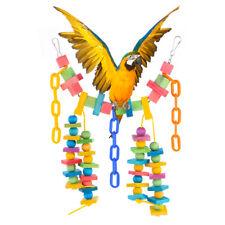 EG_ Pet Bird Bites Parrot Chew Toy Hanging Cockatiel Swing Cage Treat Toys _GG