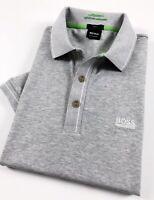 Hugo Boss Polo Shirt Men's Paule Moisture Manager Grey Marl Slim Fit 50277329