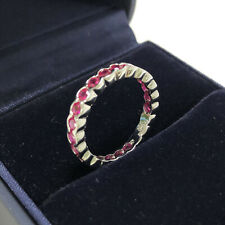 SONIA B DESIGNS WHITE GOLD PINK SPINEL STACKABLE BAND RING SIZE 7