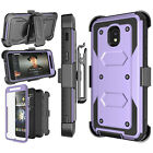 Cell Phone Shockproof Case With Belt Clip Kickstand + Screen Protector Cover