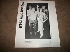 The Eagles Rockfest 1980 Wplj 95.5. Ny Radio Rockfest Promo Sheet