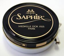 Neutral Saphir Medaille d'Or Shoe Polish Wax 50ml Tin - Made in France