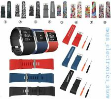 Replacement Silicone Band Wristband Strap Bracelet For Fitbit Surge Tracker MEH