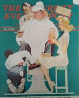 1940 Norman Rockwell Saturday Evening Post Cover Barber Shop Art
