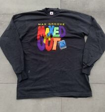 Vintage 90s Maxed Out Max Groove Long Sleeve Band T Shirt DJ Neon Puff Print XL