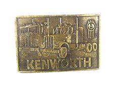 Vintage Kenworth Truck Co Brass Belt Buckle 72716