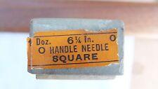 NOS Nicholson file round handle needle square 6 1/4 inch cut 0