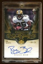 2007 EXQUISITE REGGIE BUSH AUTO #D 04/20 ENDORSEMENTS ONCARD AUTO RARE AUTOGRAPH