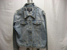 G.H. Bass & Co BASS L Large 100% Cotton Women's Jean Jacket Button Down