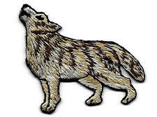 WOLF, HOWLING - WILD ANIMAL - Embroidered Iron On Applique Patch-Forest Animals