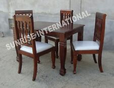 Handmade Solid Wooden Dining table with 4 cushion chair set !