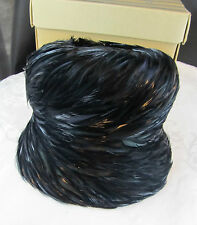 Antique Vintage Womens Feathered Hat Jille Original Size Small