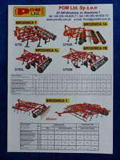 0215) POM Ltd. Brodnica Bodenbearbeitung - Prospekt Brochure Polen polnisch