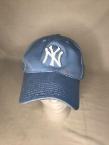 New York Yankees Hat Cap Light Blue OSFA Twins Enterprises Genuine MLB- Used