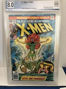 X-Men #101 Pgx  8.0 1976  First appearance of Phoenix )not CGC).  White Pages