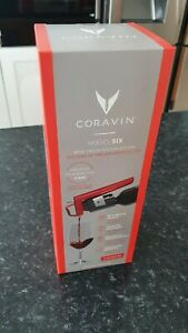 Coravin Wine Preservation Systems MODEL SIX with 3 Caspules 2 Screw caps + case