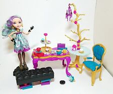 Ever After High Madeline Hatter Doll with Tea Party Set Accessories 99% Complete