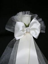 Pew End Bows Wedding Church Venue Decorations Personalised or plain 'GRACE'