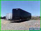 2022 8 x 24 black blackout enclosed car hauler trailer 10k 7 tall 8.5 x 24