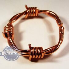 Magnetic Copper Barbed Wire Bracelet with  copper magnetic ring Gift Set