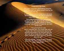 "God's Love Footprints in the Sand Poem Wall Art Print 8""x 10"" Christian Photo 16"