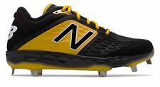 New Balance Low-Cut 3000v4 Metal Grapa de béisbol para Hombre Zapatos Negro Con Amarillo