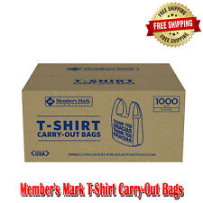 Members Mark T Shirt Carry Out Bags Easy And Safe To Store 1000 Count Plastic