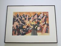 DEBORAH HOOVER ORIGINAL PAINTING ORCHESTRA MUSICIANS MUSIC PERFORMERS MODERNISM