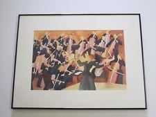 DEBORAH HOOVER ORIGINAL PAINTING ORCHESTRA MUSICIANS MUSIC PERFORMERS MODERNISM