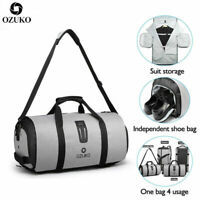 OZUKO Multifunction Men Travel Bag Large Capacity Waterproof Duffle Gym Bag