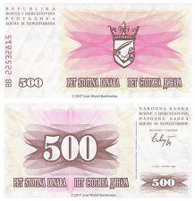 Bosnia y Herzegovina 500 Dinara 1992 P-14 Billetes Unc