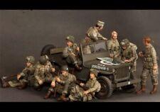 """1/35 """"soldados aliados"""" Modelo de Resina figuras unassambled sin pintar (sin Jeep)"""