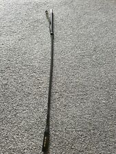 BLACK  Whip Horse Riding Crop Genuine Real  Leather, Handle with Loop