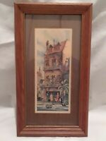 Vintage Frank M. Hamilton Lithograph by Lambert Frame Co Framed & Matted Print