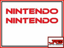2x Small Nintendo Vinyl Stickers in Red