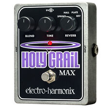 Electro-Harmonix Holy Grail Max Variable Reverb Guitar Effects Pedal +Picks