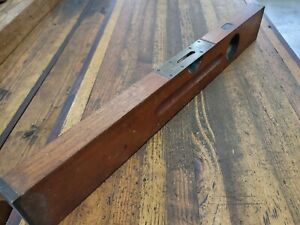 """ANTIQUE Tools LEVEL RARE STANLEY SWEETHEART #03 24"""" CHERRY WOOD Woodworking ☆USA"""