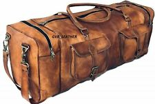 Bag Leather Travel Belonging Duffle Gym Weekend Overnight Luggage Holdall Mens