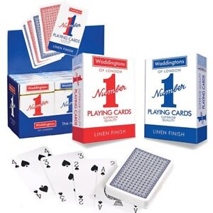Playing Cards by Waddingtons No.1 Playing Cards Twin Pack 1 RED 1 BLUE