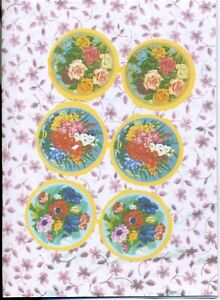 24 ROUND BOUQUET MINI GIFT NOTELETS WITH NO ENVELOPES [FREE P&P]