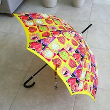 GIANNI VERSACE yellow umbrella Pop Art Medusa head & Heart Warhol & Dine