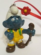 Schleich Smurfs Artesian Ornament Nature Hiking with Walking Stick and Flower