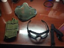 Airsoft magazine pouch / mesh face mask / tactical shoting glasses