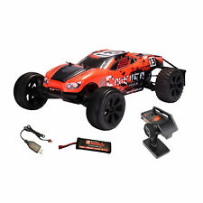 DF Models Crusher Race Truck 2WD RTR Ferngesteuertes Auto RC-Car 2,4GHz 1:10 Rot