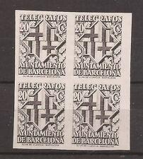 1942-45 Escudo de la ciudad de Barcelona - Bloque 4 sellos