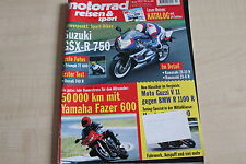 164764) Yamaha Fazer 600 im 50TKM-Dauertest - Motorrad Reisen Sport 11/1999