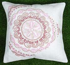 Dari Cushion Cover Handmade Cotton White Floral Throw Pillow Cover Home Decor