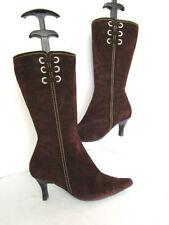 Clarks Suede Standard Width (D) Slim Heel Boots for Women